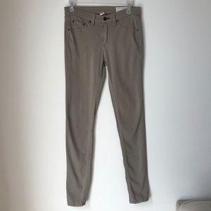 Rag & Bone Olive Grey Legging Jeans